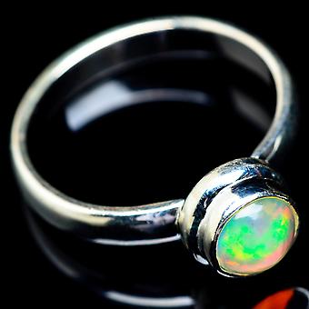 Natural Ethiopian Opal Ring Size 10 (925 Sterling Silver)  - Handmade Boho Vintage Jewelry RING5455