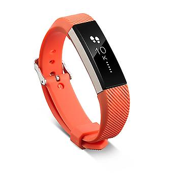 Replacement Wristband Bracelet Strap Wrist Band for Fitbit Alta Classic Buckle [Orange] BUY 2 GET 1 FREE