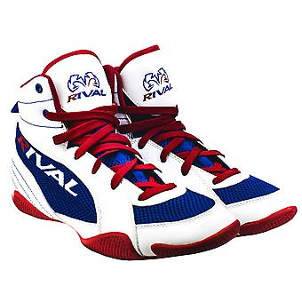Rival Boxing Lo-Top Mesh Paneled Guerrero Boots - White/Blue/Red