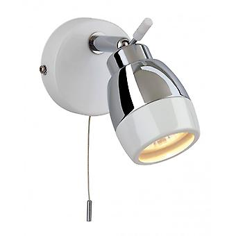 Marine Wall Light, Chrome / White