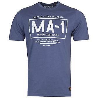 MA-1 F35 Logo Print Navy T-Shirt