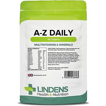 Lindens Multivitamins A-Z Daily Tablets 90 (3763)