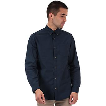 Men's Jack Jones Gavin Long Sleeve Shirt in Blue