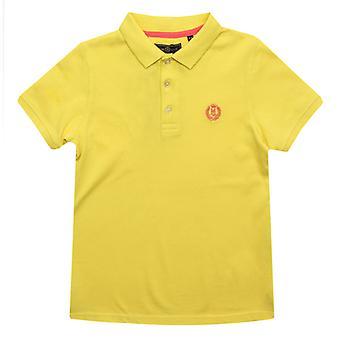 Boy's Henri Lloyd Junior Pop Collar Polo Shirt in Geel