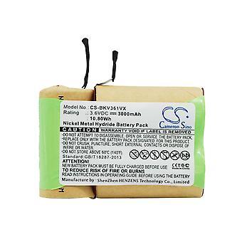 Bateria de vácuo para preto e decker 5100363-03 V3600 V3603 V3610 V3610G V3610P V