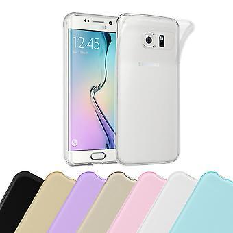 Cadorabo Caja para Samsung Galaxy S6 EDGE PLUS Funda de Caso - Flexible TPU Caso de Silicona Ultra Delgado Soft Back Cover Parachoques