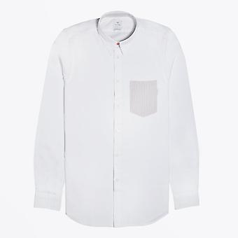 PS Paul Smith  - Cotton Contrast Pocket Shirt - White