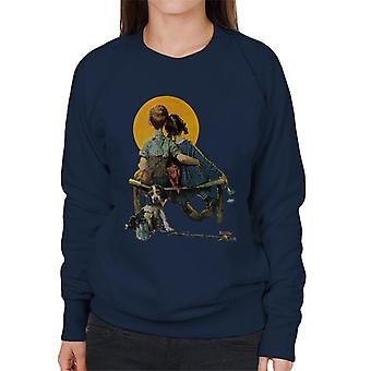 The Saturday Evening Post Norman Rockwell Sunset 1926 Cover Women's Sweatshirt