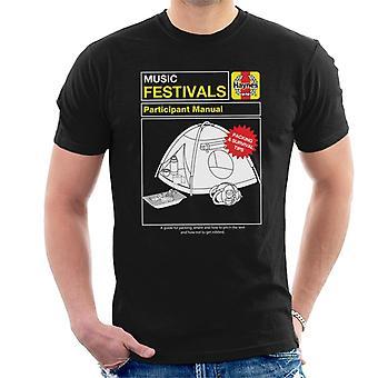 Haynes Music Festivals Manual Men's Camiseta