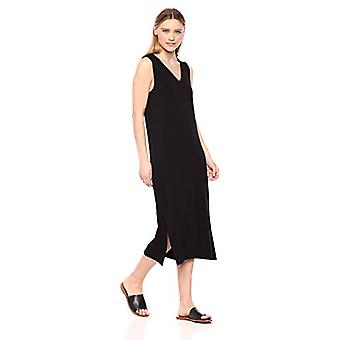 Brand - Daily Ritual Women's Supersoft Terry Sleeveless V-Neck Midi Dr...