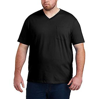 Essentials Men & Apos Big & Tall 2-Pack Short-Sleeve V-Neck Pocket T-shirts...