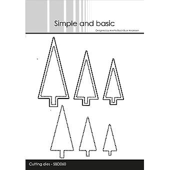 Simple and Basic Christmas Trees & Dotted Christmas Trees Dies