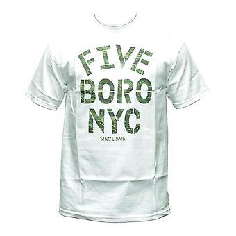 5boro Stencil Tiger T-shirt White