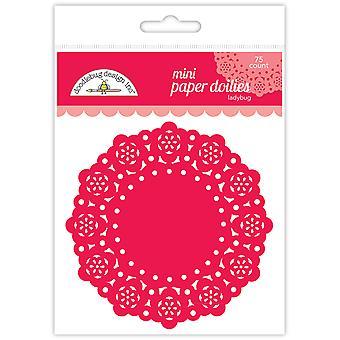 Doodlebug Design Leppäkerttu Mini Doilies (75kpl) (4598)
