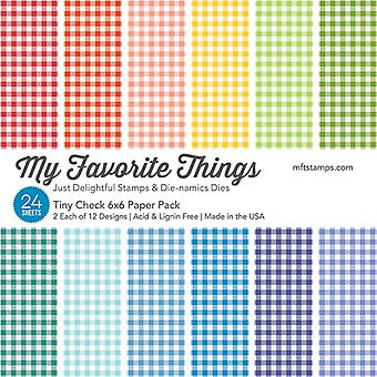 My Favorite Things Tiny Check 6x6 Inch Paper Pack