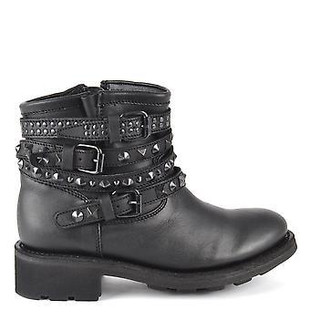 Ash Footwear Tatum Black Pavonado Studded Boot