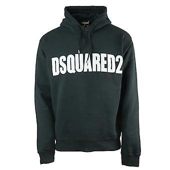 Dsquared2 جديد دان صالح شعار كبير أسود هوديي