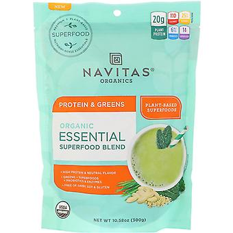 Navitas Organics, Organic Essential Superfood Blend, Protein & Greens, 10.58 oz