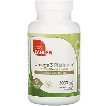 Zahler, Omega 3 Platinum, Advanced Omega 3 visolie, 3.000 mg, 90 Softgels