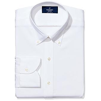 BUTTONED DOWN Miehet&s Slim Fit Button-Collar Ei-Iron Mekko Paita (Ei taskua), ...