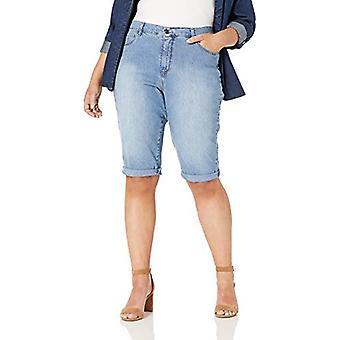 Gloria Vanderbilt Women's Plus Size Amanda Skimmer Short, Callisto, 20W