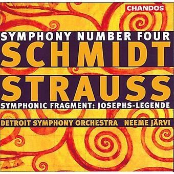 Schmidt/Strauss - Schmidt: Symphonie n° 4; Strauss: Importer des fragments symphoniques (Josephs-Legende) [CD] é.-u.