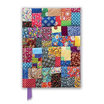 Patchwork Quilt Foiled Journal by Created by Flame Tree Studio