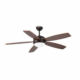 Faro Vanu 33314 1 Light Large Ceiling Fan Wood, Brun foncé avec lumière, E27
