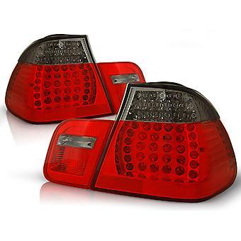 Hinten LIGHTS BMW E46 09 01-03 05 SEDAN RED SMOKE LED