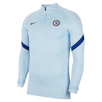 2020-2021 Chelsea Nike Drill Koulutus Top (Vaaleansininen)