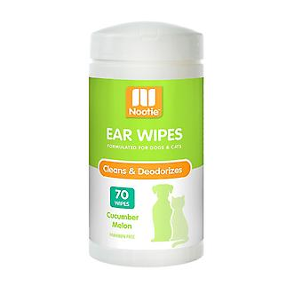 Nootie Ear Wipes for Pets - Cleans & Deodourises - Cucumber Melon - 70 Pack
