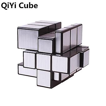 Qiyi Magic Mirror Speed 3x3x3 Cube Silver Gold Autocolante, Professional Puzzle