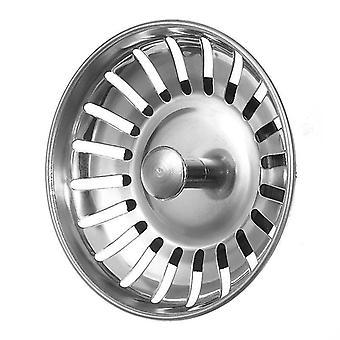 1 Pcs Ss Kitchen Sink Strainer Stopper, Waste Plug Sink Filter Deodorization