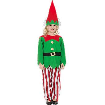 Orion Costumes Kids Red And Green Christmas Elf Fancy Dress Costume