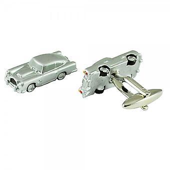 Krawatten Planet American Classic Stil Silber Auto Neuheit Manschettenknöpfe