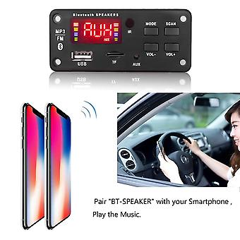 12v Mp3 Wma Wireless Bluetooth 5.0 Decoder Board, Módulo de audio del coche Usb Fm Tf