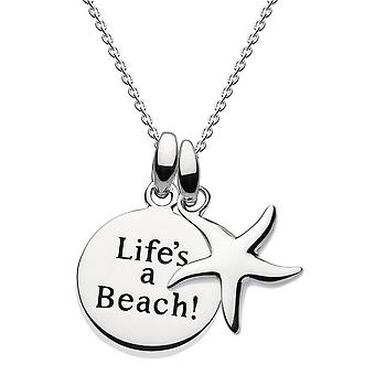 Dew Sterling Silver Life's A Beach Starfish Pendant 9686HP021