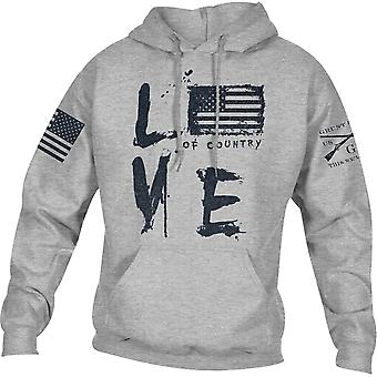 Grunt Style Love Of Country Pullover Huppari - Sport Gray