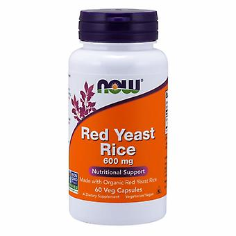 Now Foods Red Yeast Rice Extract, 600 mg, 60 Vcaps