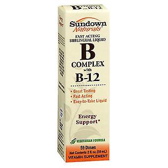 Sundown Naturals Vitamiini B-Complex Sublingual Neste, 2 oz