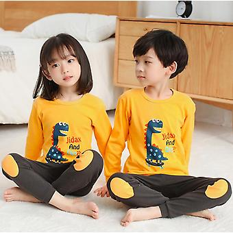 Kinder Jungen Mädchen Frühling Baumwolle Homewear Pajamas Nachtwäsche Kleidung Set-2