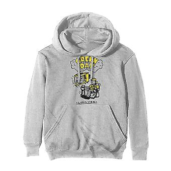 Green Day Hoodie Longview Doodle Band Logo Official Off White Pullover Unisex