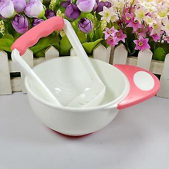Aliments pour bébés Fruits de broyage faits à la main / légumes Masher Bowl