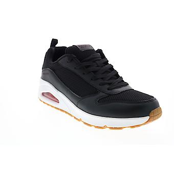 Skechers Uno Fastime  Mens Black Canvas Lifestyle Sneakers Shoes