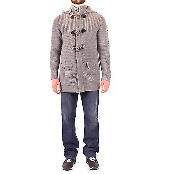 Armani Jeans Ezbc039159 Männer's grau Wolle Strickjacke