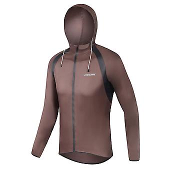 YANGFAN Hombres's Solid Color Cycling Rain Hooded Jacket Sports Top