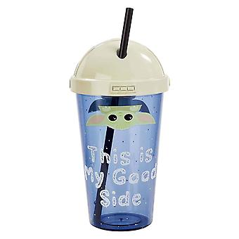Mandalorian Cup With Straw The Child This Is My Good Side new Official plastic