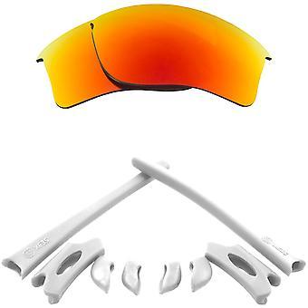 Ersättningslinser Kit för Oakley Flak Jacket XLJ Röd Spegel Vit Anti-Scratch Anti-Glare UV400 av SeekOptics