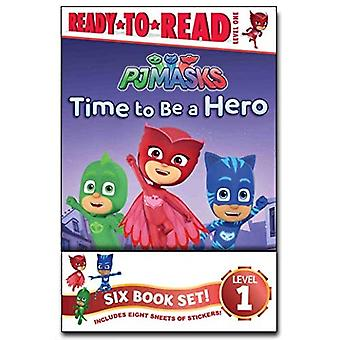 Pj Masks Ready-To-Read Value Pack: Time to Be a Hero; Pj maskers opslaan van de bibliotheek!; Owlette en de Gevende Uil; Gekko redt de stad; Power Up, Pj Maskers!; Race for the Ring (Pj Maskers)