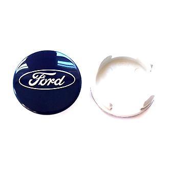Blue Ford Wheel Center Cap Hub Badge 54mm 1 PCS For C-Max Galaxy Focus Mondeo Transit Ka Fiesta Kuga B-Max